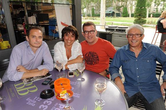 1. Maxime Perrier, Nathalie Berberian, Nico et Elie Cunat