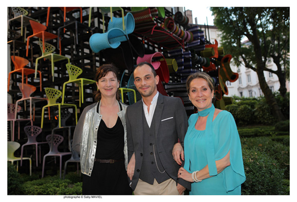 12. Nadine Fageol, Fabien Louvier (Claude Cartier Décoration) et Clotilde Dupont (l'Arca International)