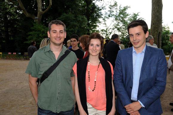 13. Stéphane Rabut (Club de la Presse), Elea Devidal (Kinesphère) et Jean-Michel Mandin (L'Opinion en région)