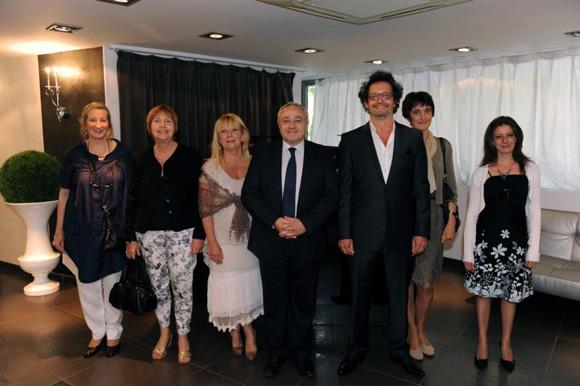 1. Jean-François Croes, directeur de l'Efap, Serge Le Strat, DG de l'Efap et leurs collaborateurs