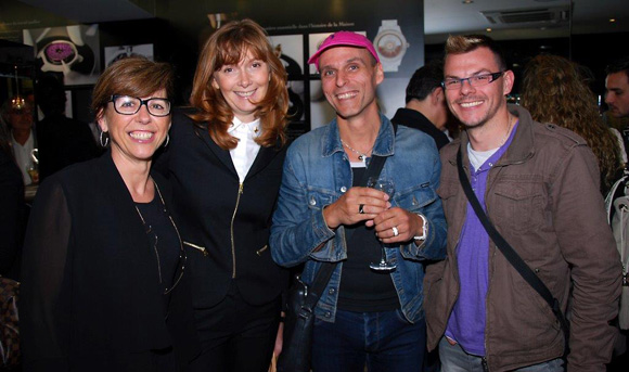14. Cécile Chartron (Maier Joaillier), Virginie Colombat (Louis Vuitton), Erick Lejeune et Emmanuel Cretal