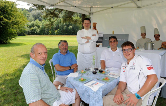 16. Louis-Eric Beckensteiner, Carlos Teixeira, le chef Christophe Marguin, Frédéric Bouille et Paul Gagneux