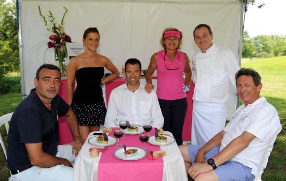 19. Laurent Loire, Graziella, Richard Guglielmi, Marie Caudard-Breille, le chef Stéphane Fernandez (Steff) et Jean-Pierre Gagneux