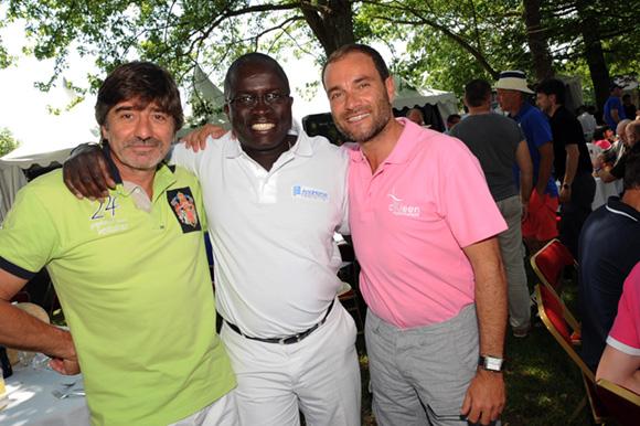 21. Michel Neyret, Laye Diop (Hilton) et Serge Gradante (CKleen)