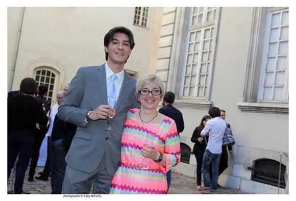 21. David Michelizza (Moroso) et Marie-Claire Noyerie (Musée des Tissus et Musée des Arts Décoratifs)