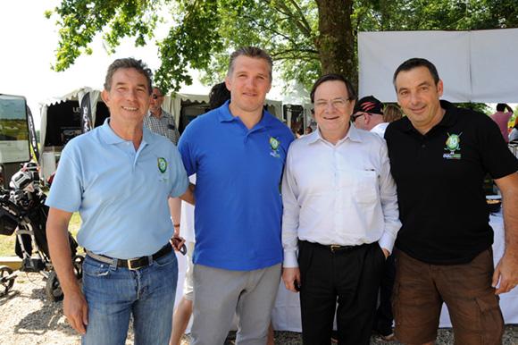 22. Jean-Claude Pietrocola (Média Sport Promotion), Sylvain Marconnet, Jean-Louis Blanc (GDF Suez) et Laurent Pietrocola