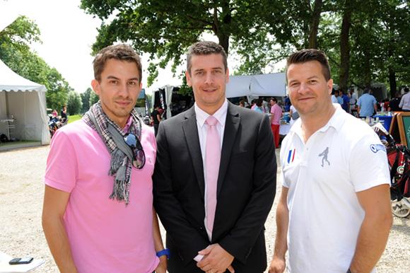 25. David Tavira, Francis Stabenau, directeur du Golf du Gouverneur et Damien Huillard (Schweppes)