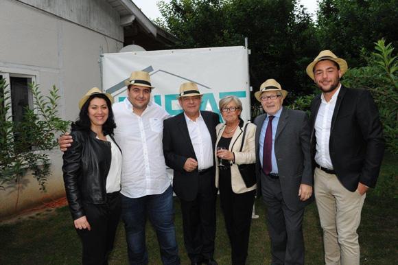 25. Jean-Jacques David, maire du 6ème et son épouse Françoise entourés de Sandra, Cédric, Michel et Kévin Jovanovic (TJBAT)