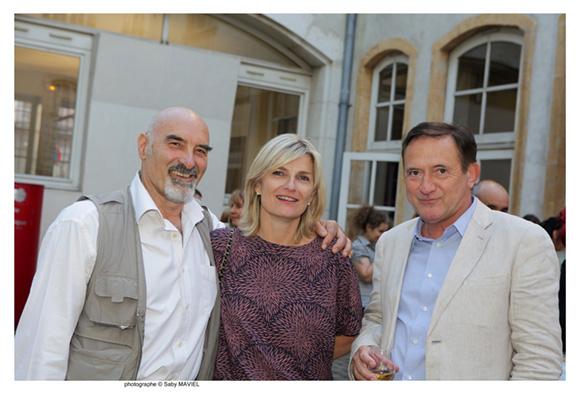 32. Bruno Paccard, photographe, Cécile, et Joel Madile, directeur du Gand Lyon à Paris