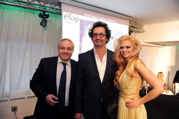 37. Serge Le Strat, DG de l'Efap, Sandy Sims et Jean-François Croes, directeur de l'Efap