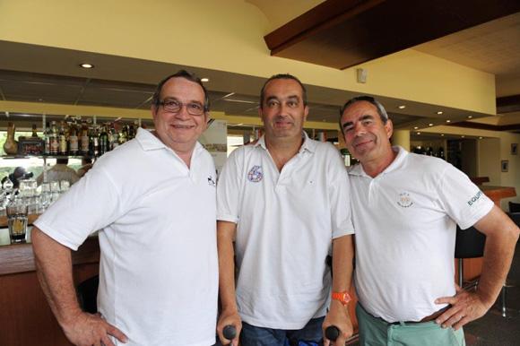 38. Gilbert Reboul, chef du GCL, Pierre Nallet et Frédéric Barba