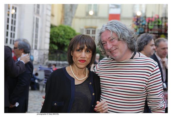44. Renée Valet-Huguet (Passerelles) et Laurent Castagné