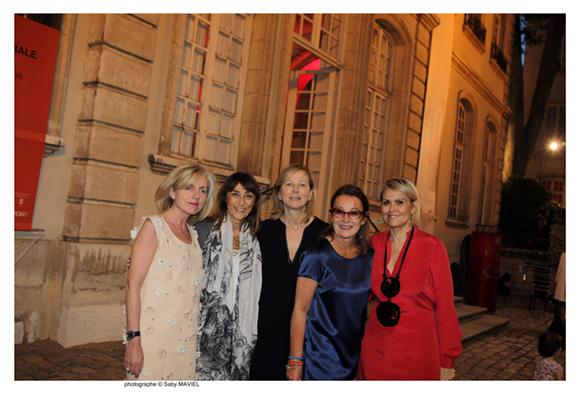 50. Françoise Chatelon (pharmacie Chatelon), Sophie Turion, Julianna Molnar, Pascale Pidault (Design et Bains) et Claude Cartier