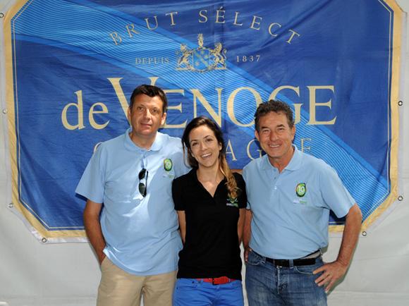 8. Thierry Bouchet (Champagne de Venoge), Gaëlle Viegas et Jean-Claude Pietrocola (Média Sport Promotion)