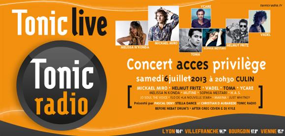 Tonic Radio. Mickael Miro, Helmut Fritz sur la scène du Tonic Live