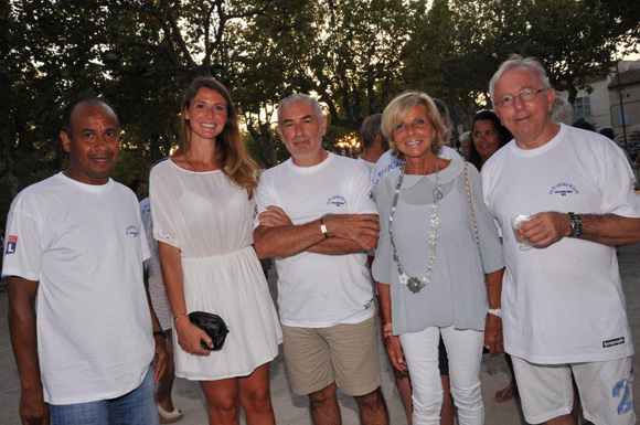 15. Jean Tigana, Camille Cremet, Annie Manoukian et Gilbert Giorgi
