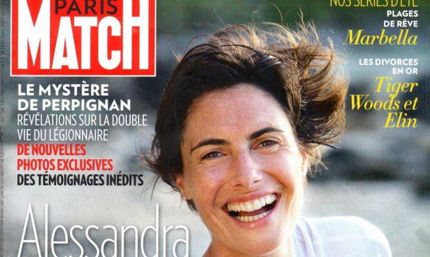 Alessandra Sublet. Verrouillage centralisé pour Paris Match