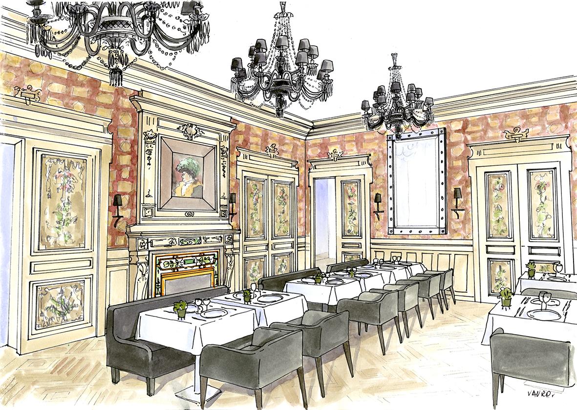 Marguerite Restaurant. Les premières esquisses