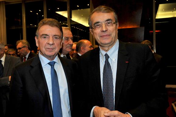 10. Bernard Fontanel, président du Medef Lyon et ean-Jack Queyranne, président du Conseil Régional