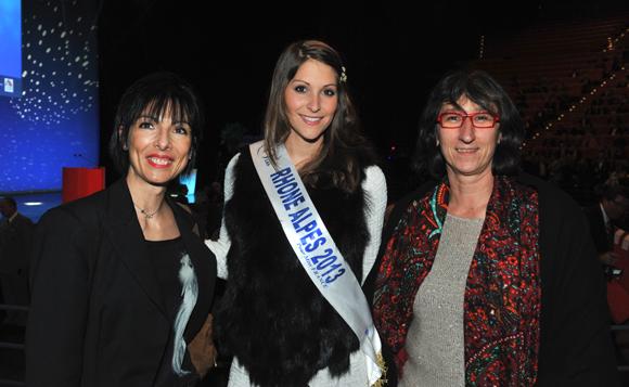 11. Irène Grousson-Denis (Air France), Mylène Angelier, miss Rhône-Alpes 2013 et Pascale Mittoux-Gayral (Air France)