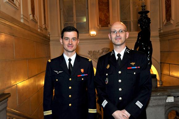 12. Le colonel Etienne Gourdain et le colonel Xavier Guimard