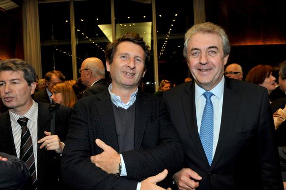 12. Jean-François Bourrec (Brainstorming) et Maître Richard Brumm, adjoint aux Finances de la Ville de Lyon