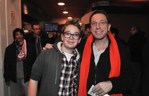 12. Le chef d'orchestre Philippe Fournier et son fils Hugo