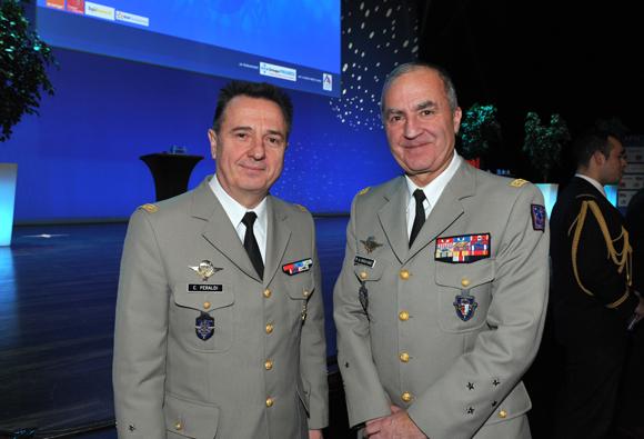 13. Le général Christian Peraldi et le général Martial de Braquilanges, gouverneur militaire de Lyon