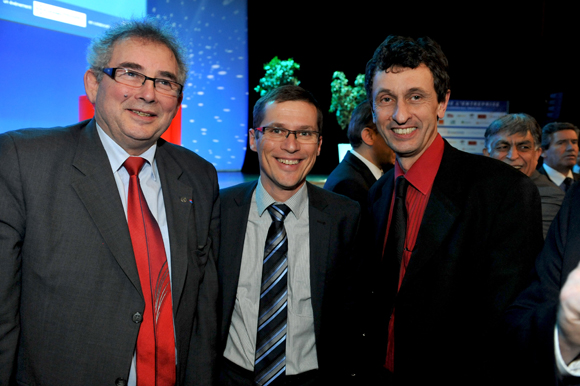 17. Alain Audouard, président de la Chambre de Métiers du Rhône, Alain Fauveau et Jacques Descours (CCI Lyon)