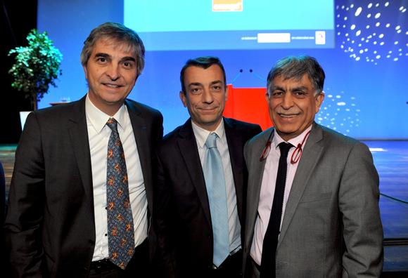 19. Philippe Delanoue (ALP association), Cyril Amprino (CGPME) et Manan Atchkezai, président de la SFIP