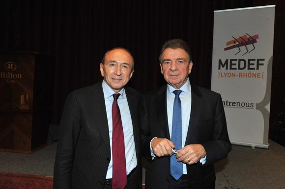 2. Gérard Collomb, sénateur maire de Lyon et Bernard Fontanel, président du Medef Lyon