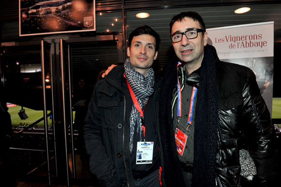 22. Jean-Samuel Sagnes (Air France) et le fleuriste Franck Hernandez