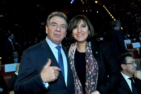 23. Bernard Fontanel, président du Medef Lyon et Nora Berra, député européen