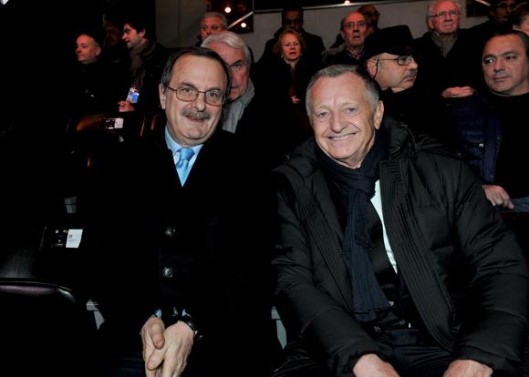 24. Jean-François Carenco, préfet du Rhône et Jean-Michel Aulas président de l'OL