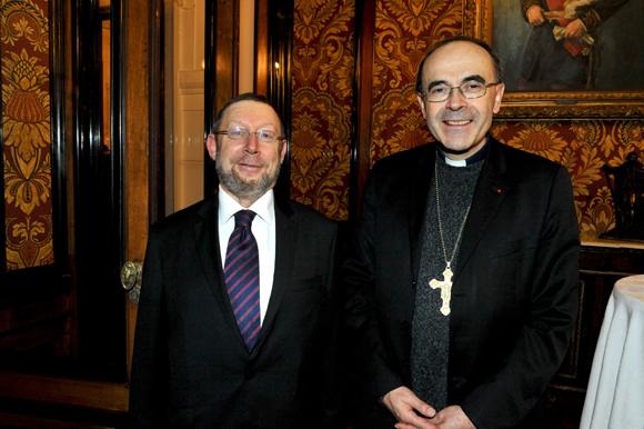25. Richard Wertenschlag, grand rabbin de Lyon et le cardinal Philippe Barbarin, primat des Gaules
