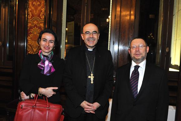 27. Maria-Anne Privat-Savigny, directrice du Musée Gadagne, le cardinal Philippe Barbarin et Richard Wertenschlag, grand rabbin de Lyon