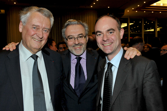 29. Michel Angé, président du comité de soutien Maison Repit, Erick Roux de Bézieux (Syntagme) et Guillaume Normand (GDF SUEZ)