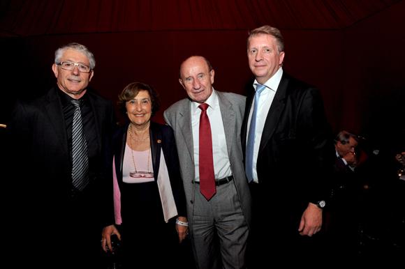 30. Elie Cunat, DG du Groupe Gauduel, Gisèle Lombard (Le Progrès), son époux Jacques et Michel Lopez (Korloff)