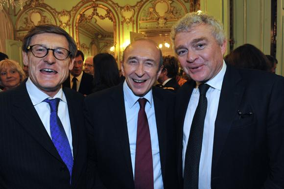 32. Alain Huet, DG du Medef Rhône-Alpes, Gérard Collomb, sénateur-maire de Lyon et Jean-Louis Joly, DG du Medef Lyon-Rhône