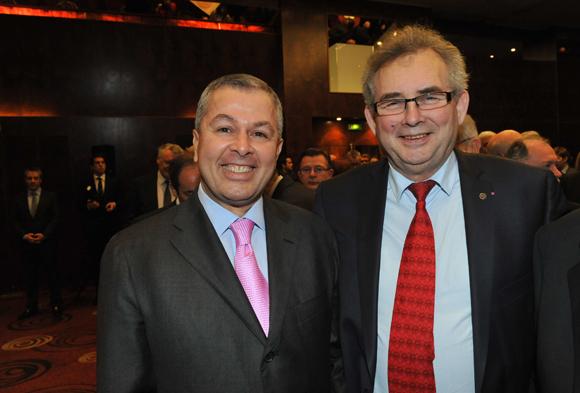 4. Philippe Guerand (Medef) et Alain Audouard, président de la Chambre de Métiers du Rhône