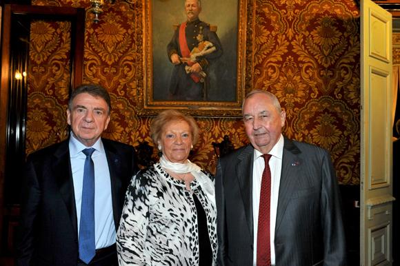 5. Bernard Fontanel, président du Medef Lyon-Rhône, Jean-Paul Mauduy, président de la CRCI et son épouse Betty