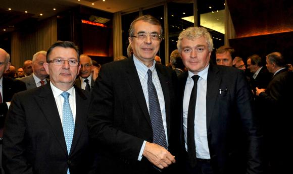 5. Paul Rolland, président U.I. Métallurgie, Jean-Jack Queyranne, président du Conseil Régional et Jean-Louis Joly, DG du Medef Lyon-Rhône