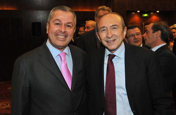 57. Philippe Guerand (Medef) et Gérard Collomb, sénateur maire de Lyon
