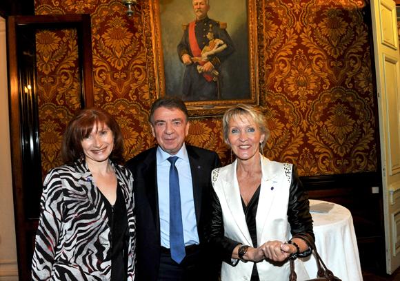 6. Isabelle Gonon (Byblos Group), Bernard Fontanel, président du Medef Lyon-Rhône et Michèle Hingrez