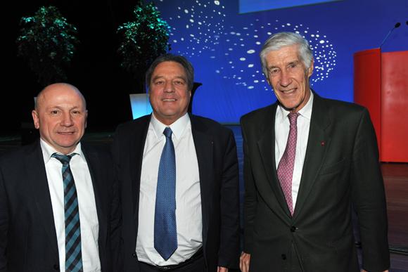 6. Jean-Claude Lassalle (Progrès), François Turcas, président CGPME Rhône et Joël de Rosnay