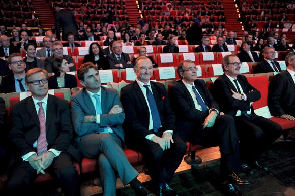 6quatuor. Jean-Paul Babey (ALPTIS),  Patrick François, directeur régional Rhône-Alpes-Caisse des dépôts,  Jean-François Carenco, préfet de région et Jean-Jack Queyranne, président du Conseil régional