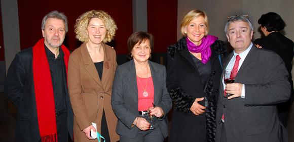 11. Jean-Jacques Billon, Catherine Descours (Château de Sans Souci), Danielle Pierrefeu, Odile Mattei (France 3) et Michel Godet (Lyon Saveurs)