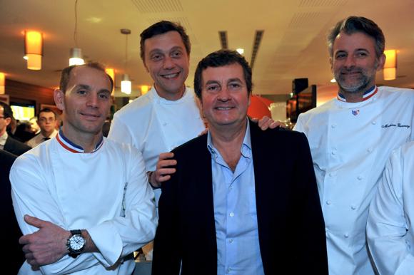 14. Davy Tissot (Villa Florentine), Hervé Bal (Editions HB), Frédéric Berthod (33 Cité) et Mathieu Viannay (Mère Brazier)