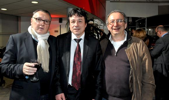 14. Marc Jean (Le Progrès), Luc Chioetto (Groupe Delorme) et Marc Rizos (Groupe Victoria)