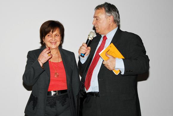 16. Danielle Pierrefeu (Présidente de l'Association Les Gastronomes de Lyon) et Michel Godet (Lyon Saveurs)